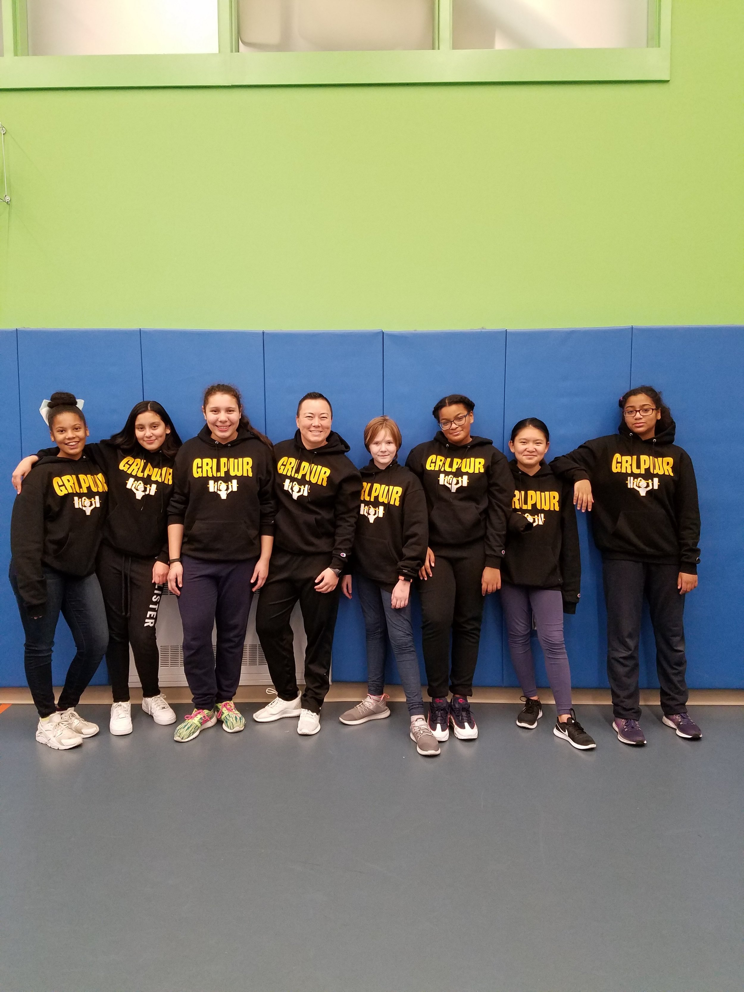 Students in Ms. Powell's GRL PWR after school group build friendships and confidence as they begin to navigate middle school.