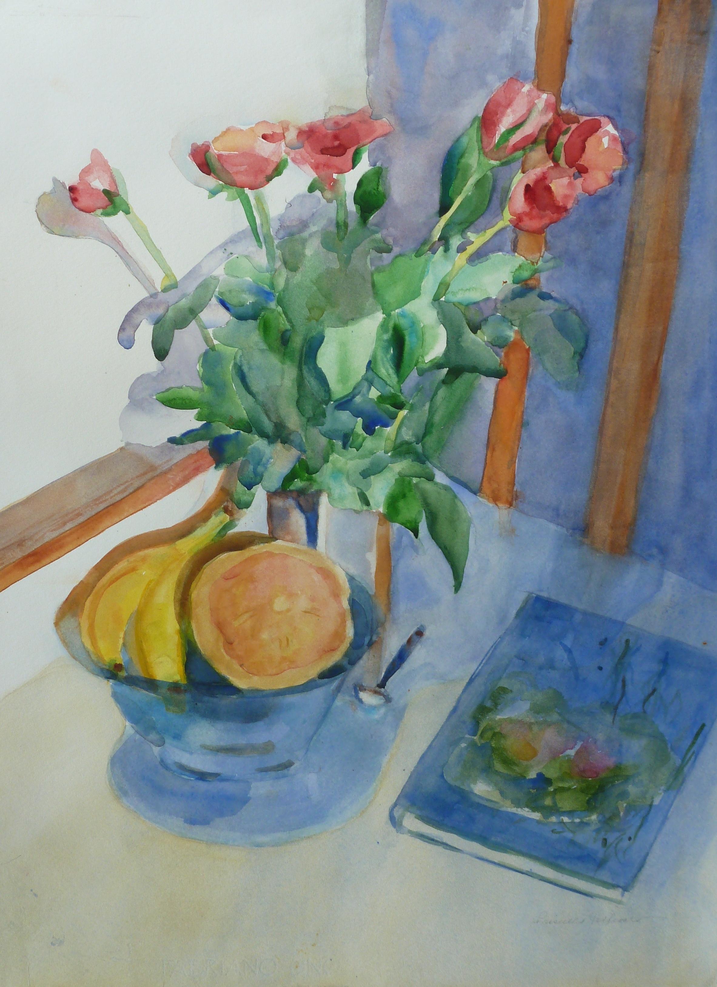 Still Life / Roses  Watercolor  24hx20w  $300