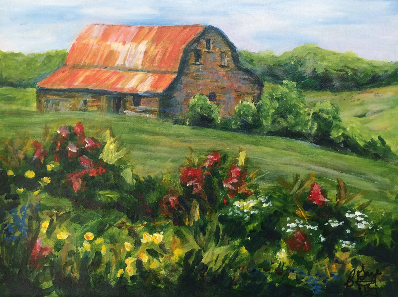 "Northern Maine Barn  11x14"" Acrylic $200"