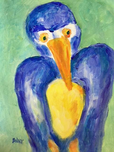 BLUE BIRD  Acrylic  16x12  $50