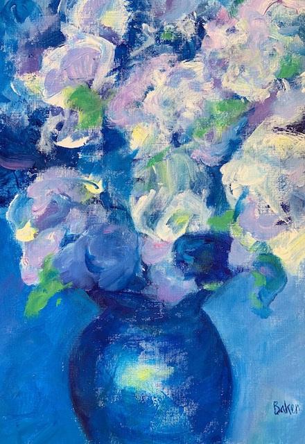 """Blue Vase""  Acrylic  16x20"" $50"
