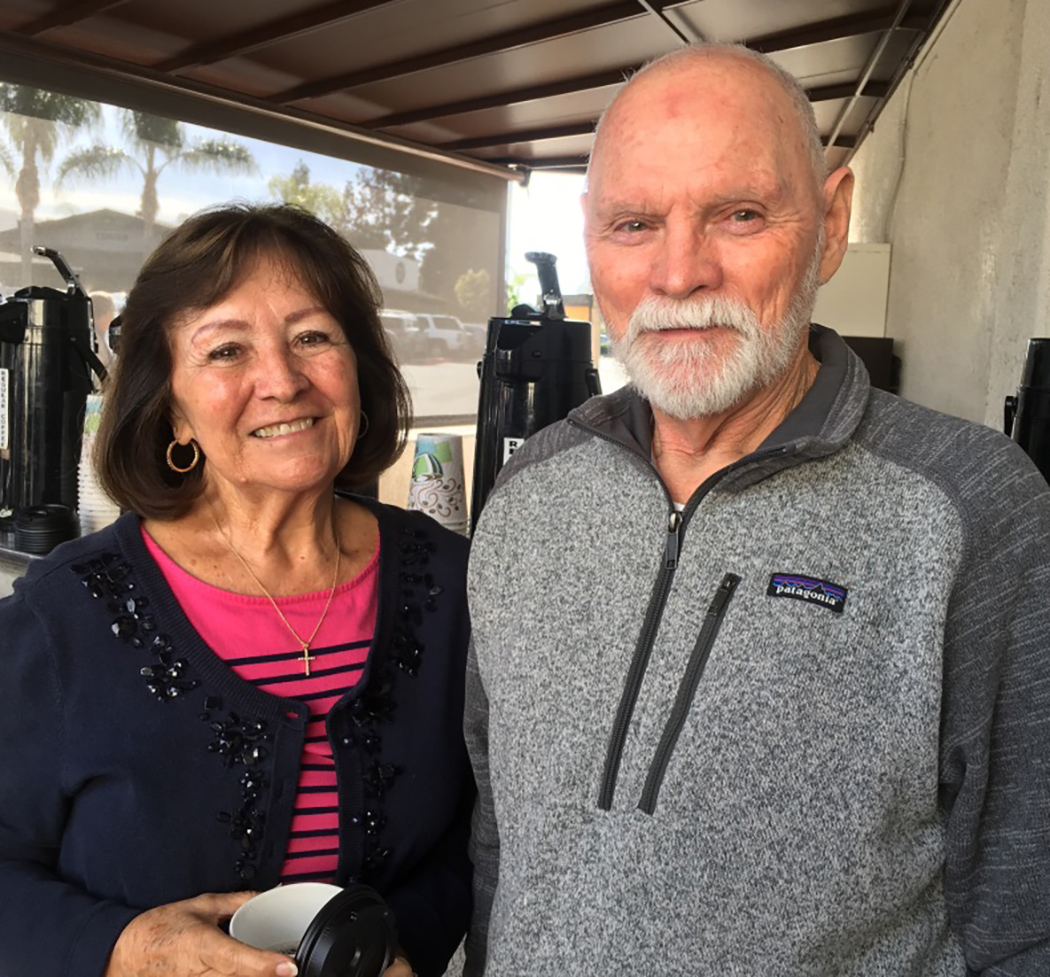 Jim with his wife, Lily.