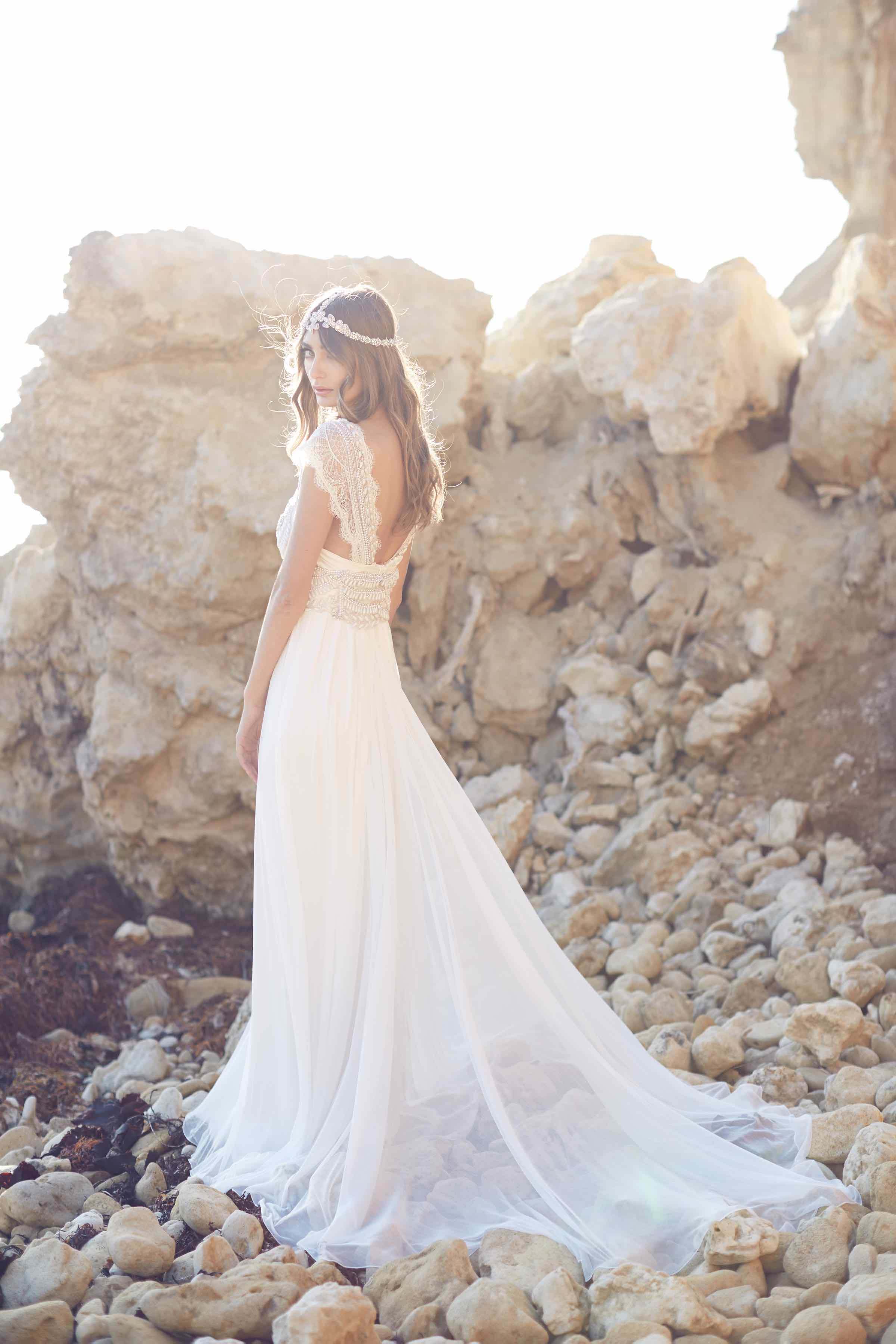 Anna Campbell Coco Dress | Vintage inspired embellished wedding dress