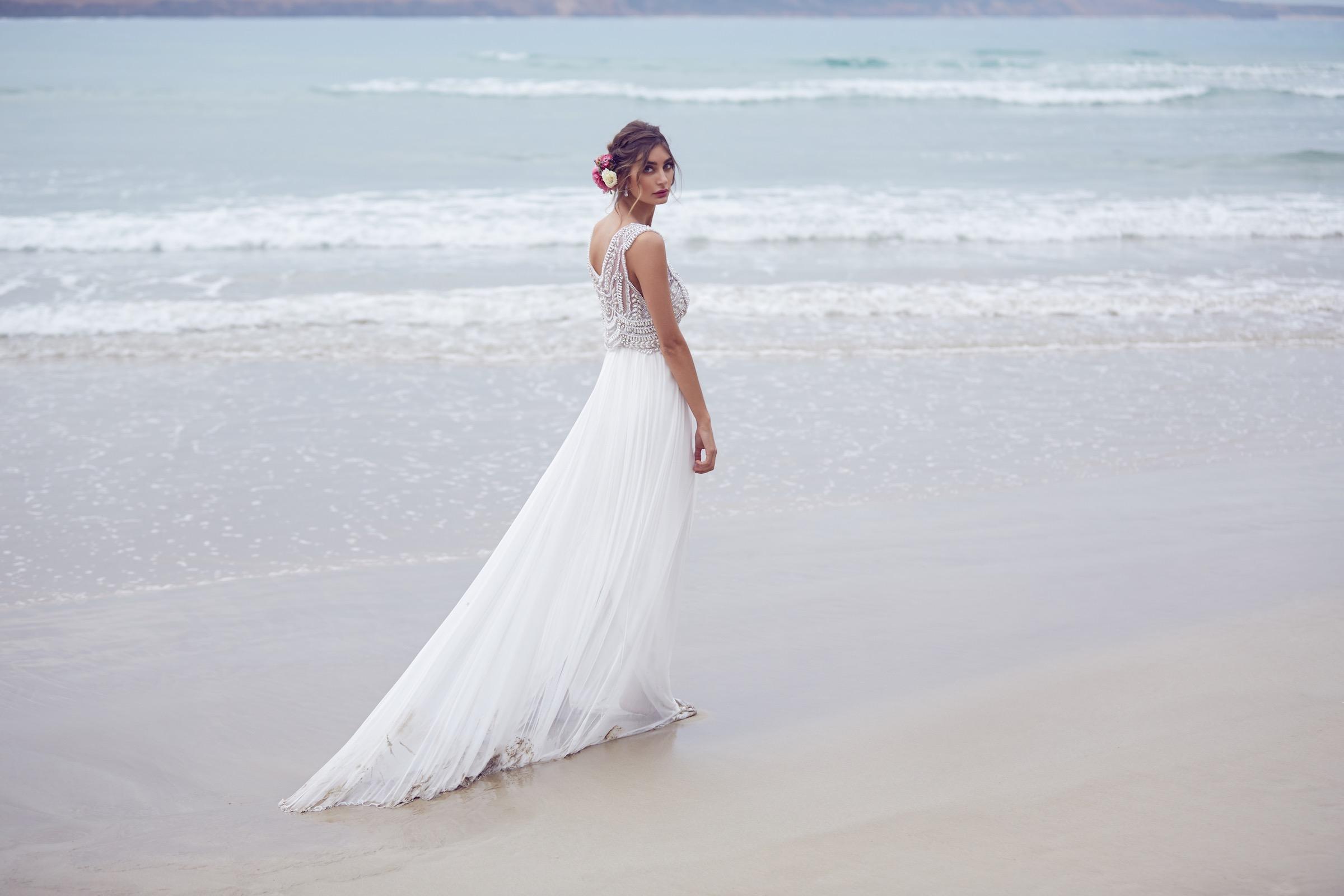 Anna Campbell Madison Dress | Vintage inspired embellished wedding dress