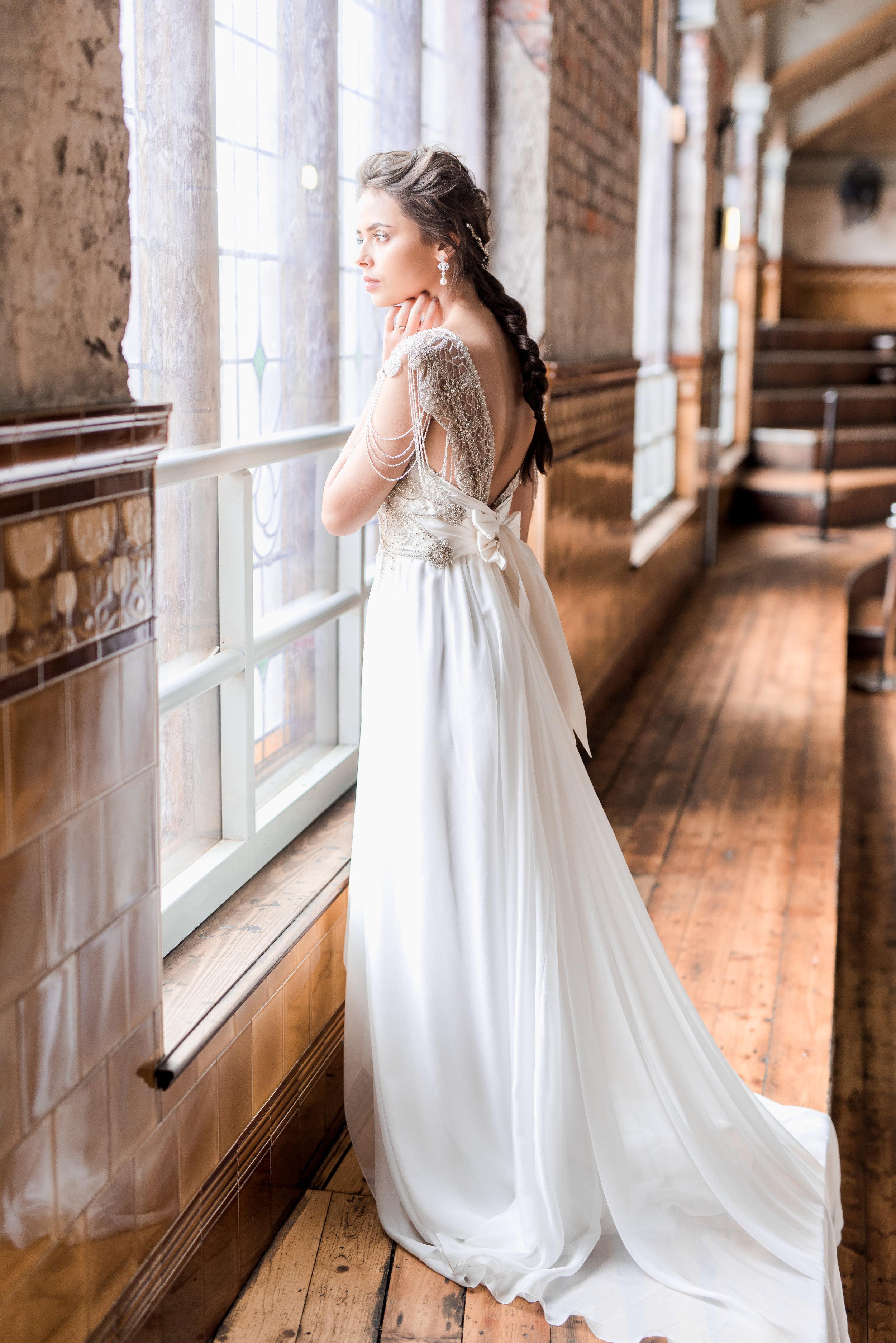 Anna Campbell Bridal   Grace Dress   Eternal Heart Collection   Vintage Inspired Beaded Wedding Dress