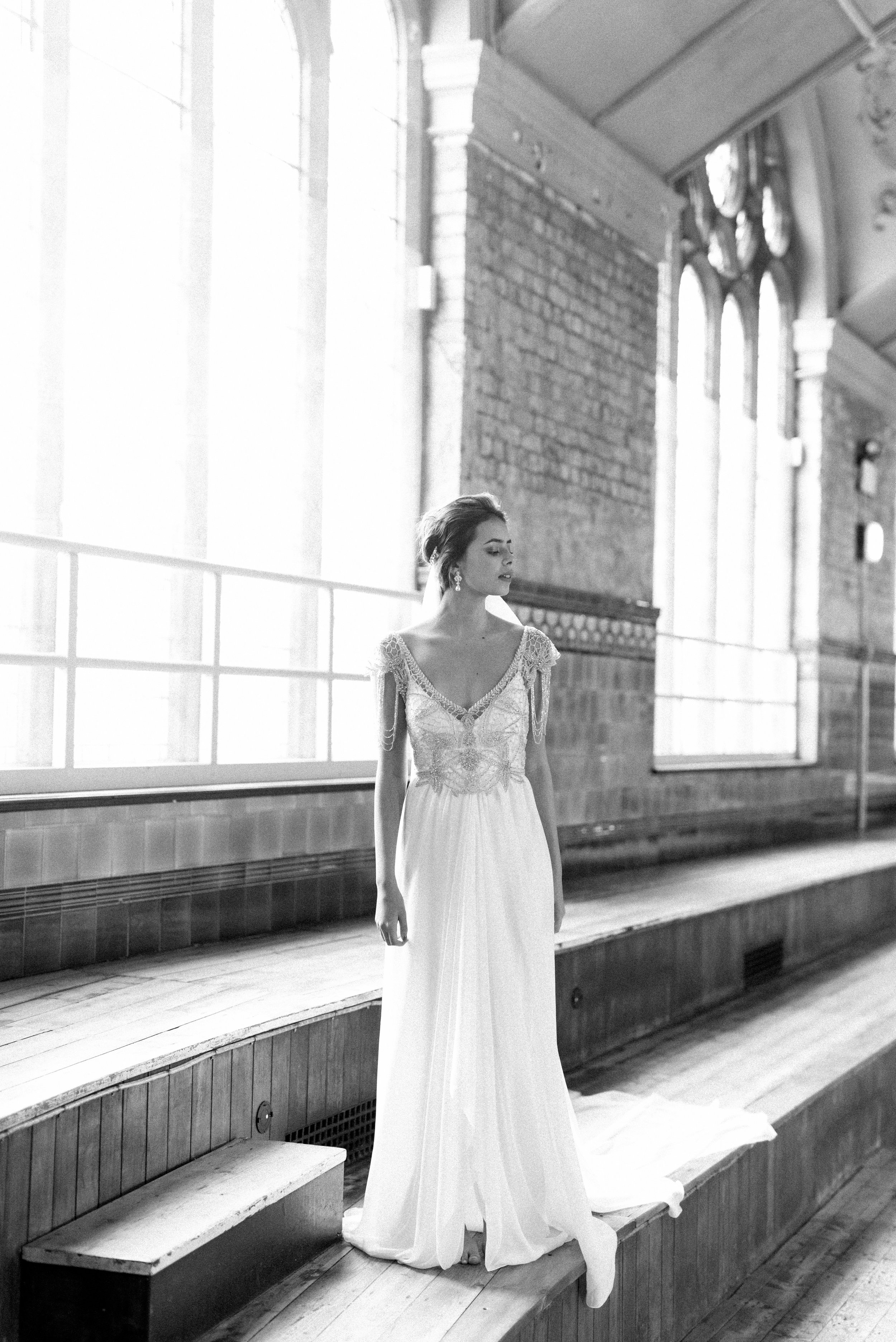 Anna Campbell Bridal   Grace Dress   Vintage Inspired Beaded Wedding Dress   Eternal Heart Collection