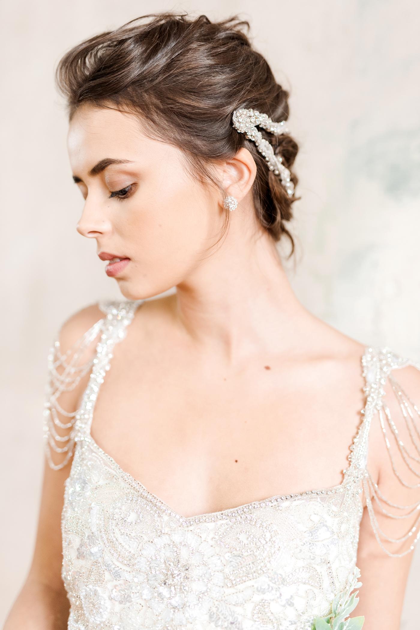 Anna Campbell Bridal   Chloe Dress   Vintage Inspired Beaded Wedding Dress   Eternal Heart Collection