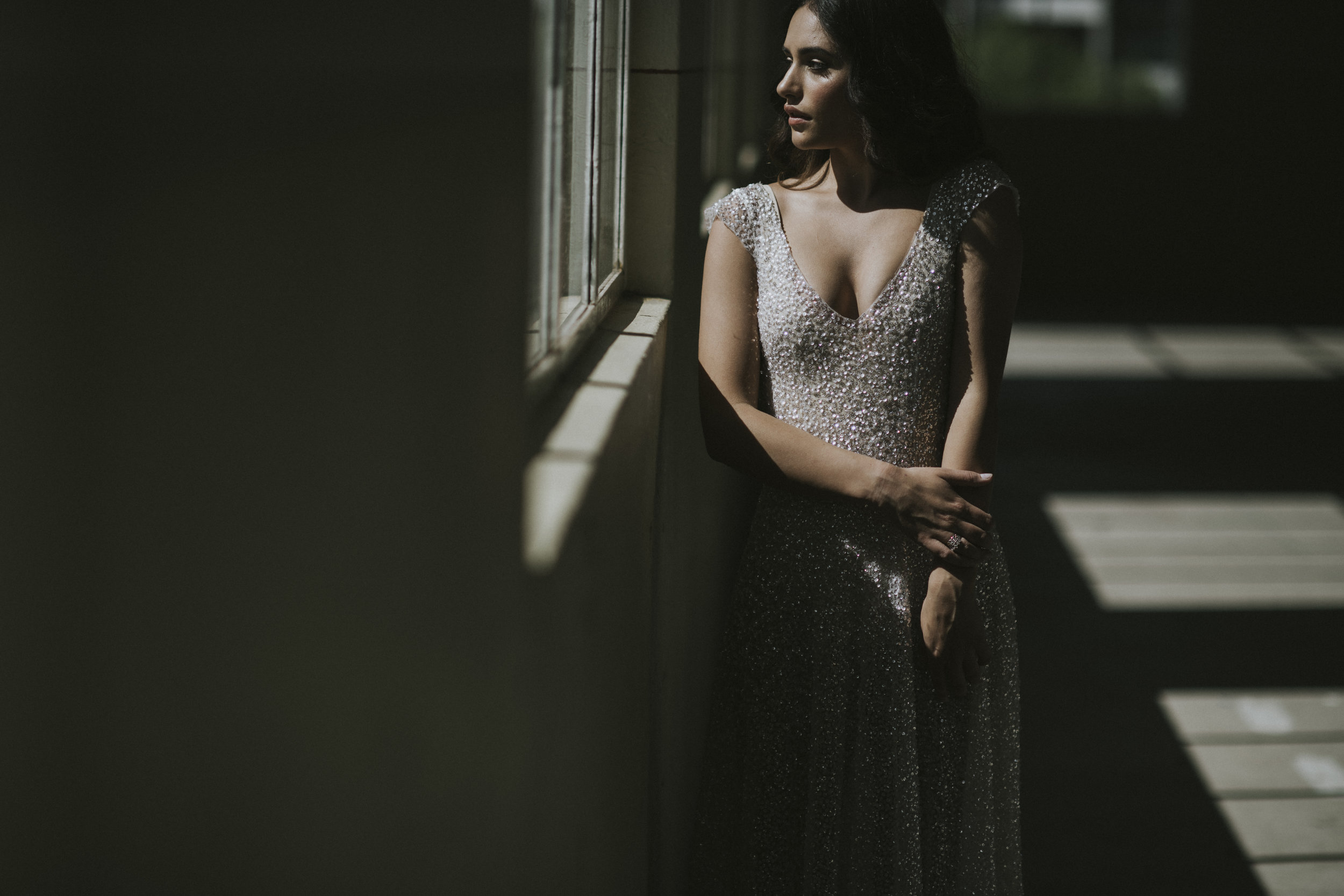 Anna Campbell Bridal | Sydney Dress | Sequin wedding dress