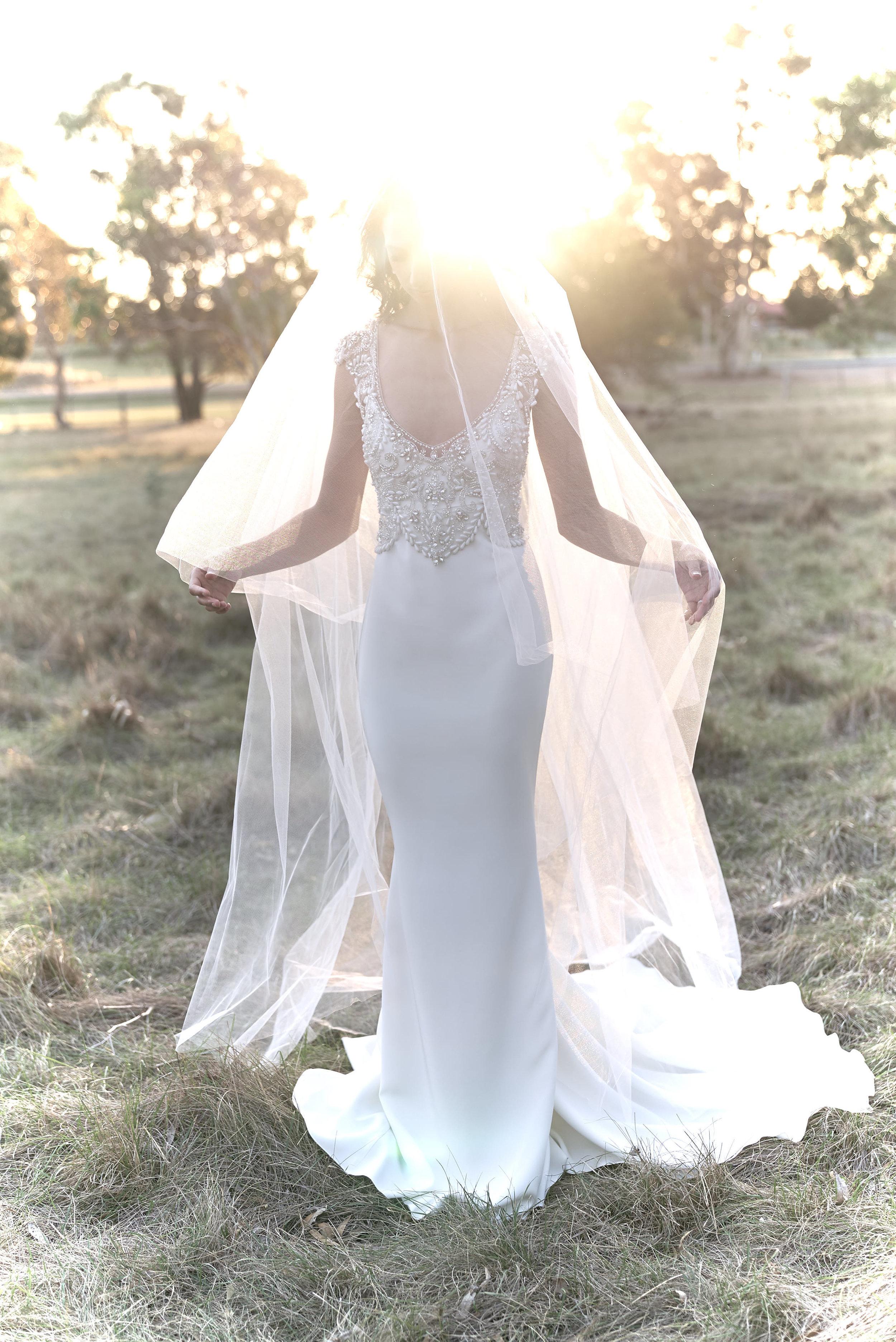 Anna Campbell Bridal | Raine Dress | Embellished vintage-inspired wedding dress