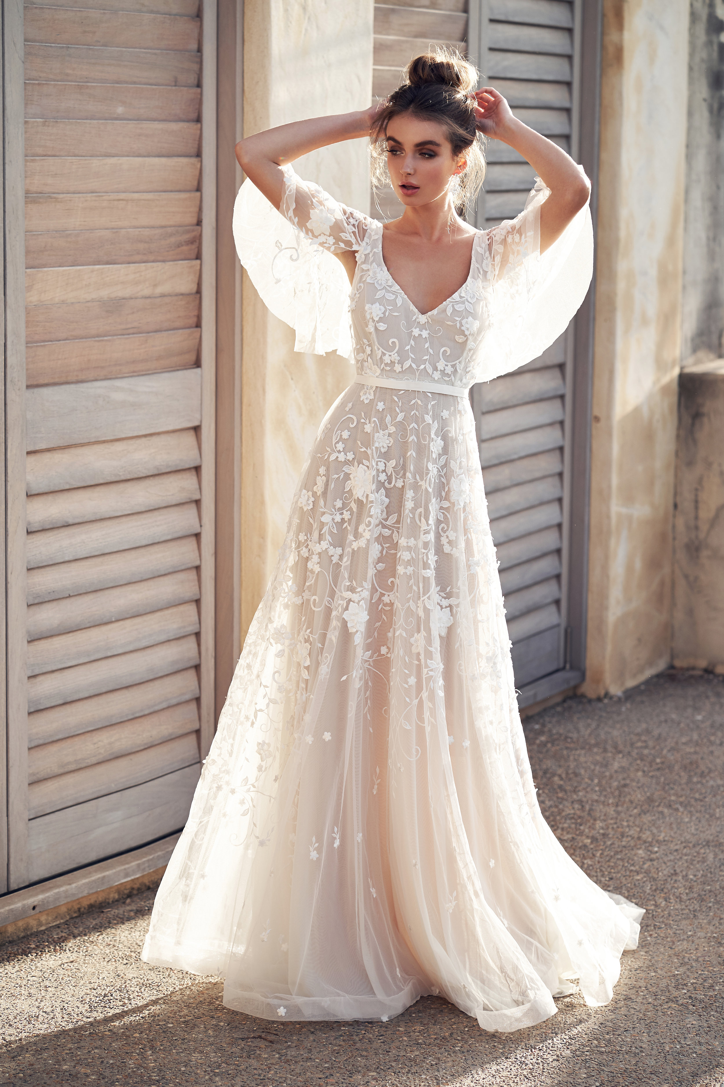 dress | AMELIE DRAPED Sleeves