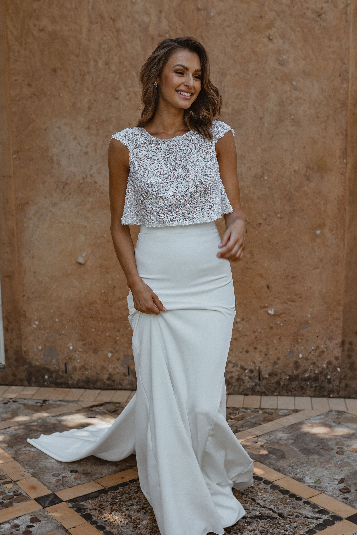 Anna Campbell Imogen Top wedding dresses and bridal separates under $3000 Adelaide
