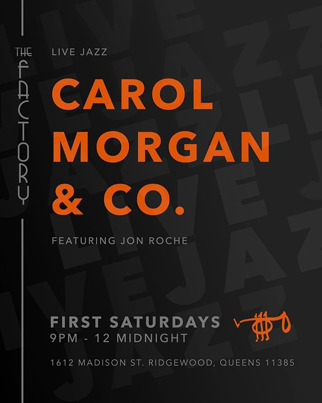 Live jazz this Saturday! #livejazz #jazz #liveshow #restaurant #bar #craft #craftcocktails #drinks #dranks #beer #wine #cocktails #queens #bushwick #brooklyn #ridgewood #saturday #night #dinner #datenight #nyc #thefactorybk #goodfood #salmon #burger #fries #tacos #quesadillas #tofuburger #dumplings
