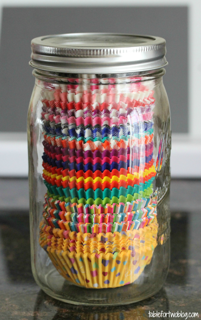 Organize your cupcake liners