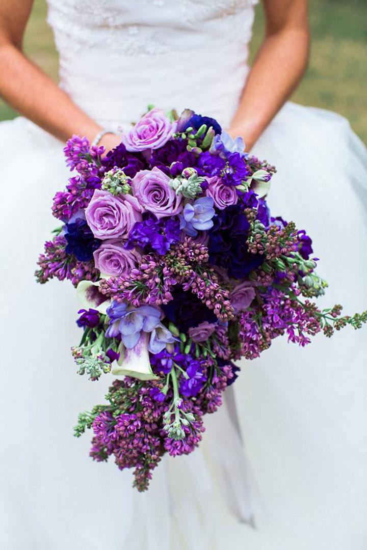 Ultra Violet Wedding Flowers