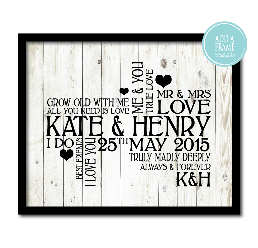 Wedding Typography Print
