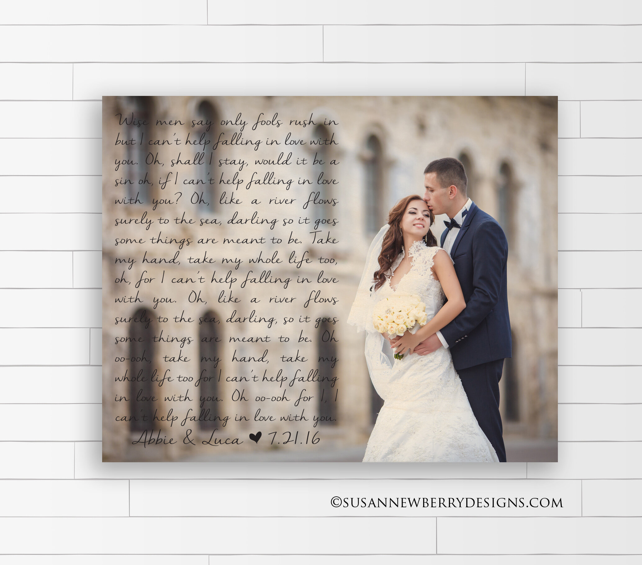 Maple Wood Print - First Dance with Picture 1