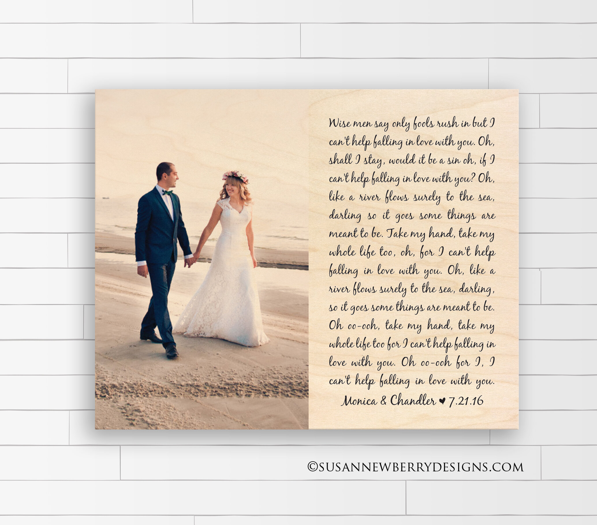Maple Wood Print - First Dance Lyrics with Photo 2