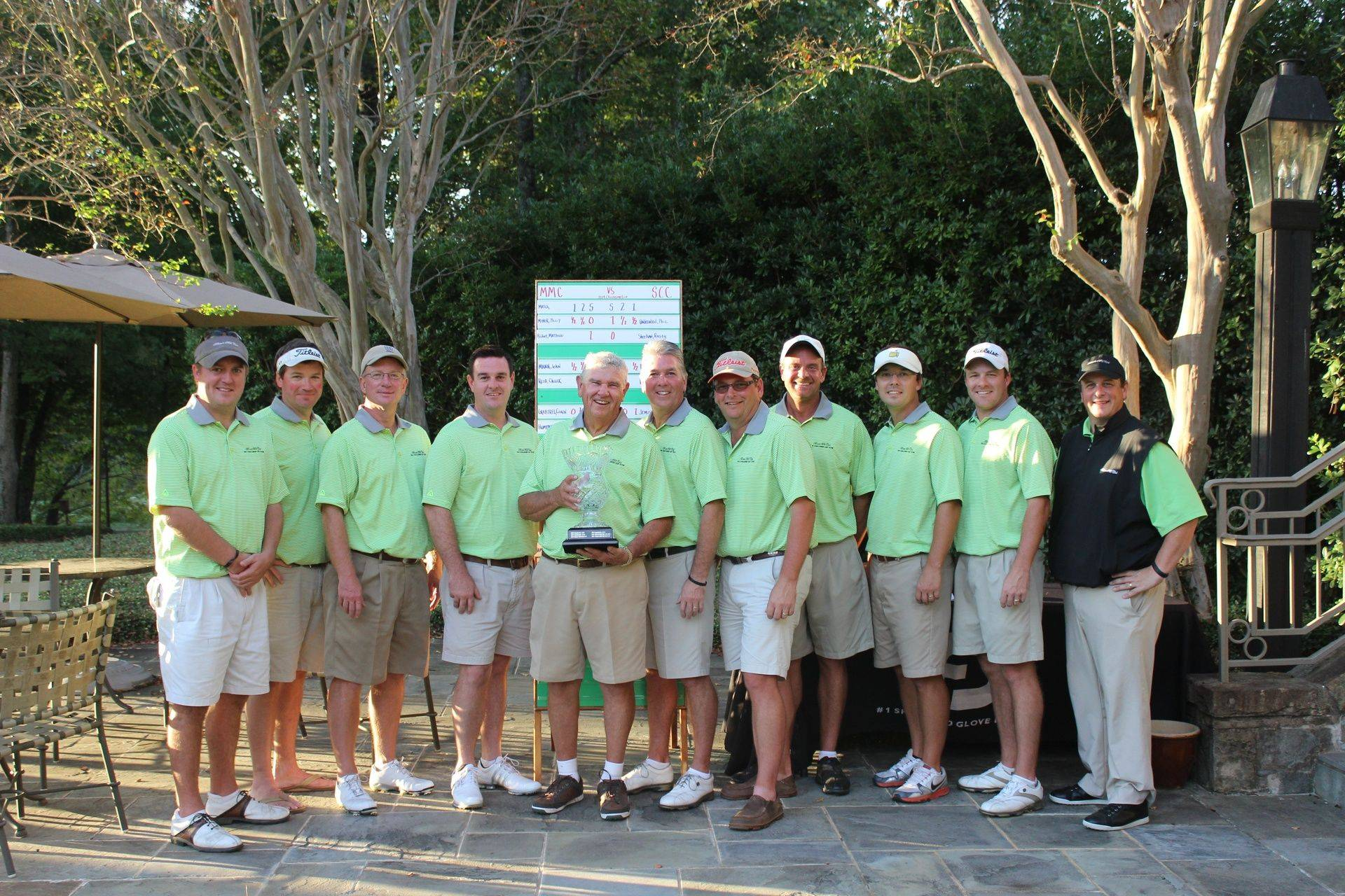 2014  MMC wins Challenge Cup for third straight year defeating Saugahatchee CC 13.5 to 10.5!  Team Members: Mattew Bishop, Conn Crabtree, Philip Minor, Nathan Turner, Windell Humphries, John Mann, Chuck Reid, Bruce Haman, Jeff Chastain, James Salter, (not pictured) Steve Graham and Troy Maxwell