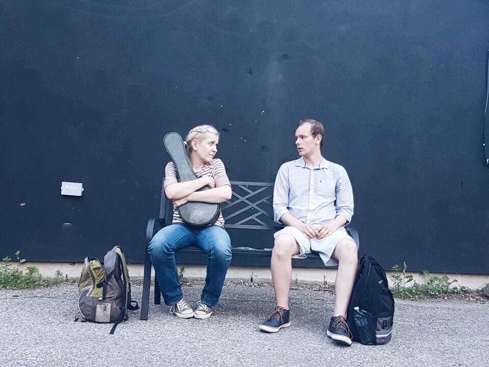 Toronto Fringe; Kat Haan as Celia & Ross Somerville as Rhys