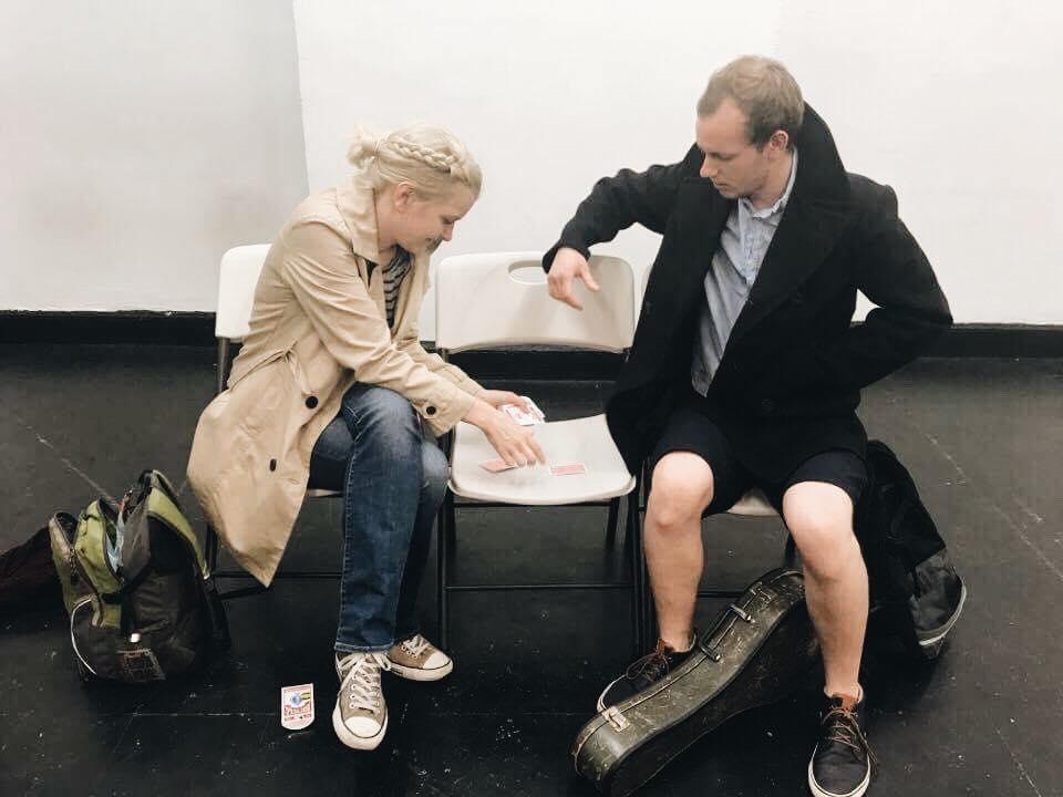 Rehearsal / Final Dress with actors Kat Haan (Celia) & Ross Somerville (Rhys)