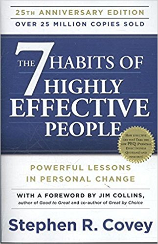 The 7 Habits of Highly Effective People - Powerful Lessons in Personal Change - I think anyone who is trying to better themselves in anyway should read this book. We even put some of the concepts from this book into our