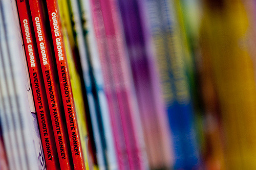 """"""" C  urious George Books Bokeh """" by  Jason Hargrove is licensed using  CC BY 2.0"""