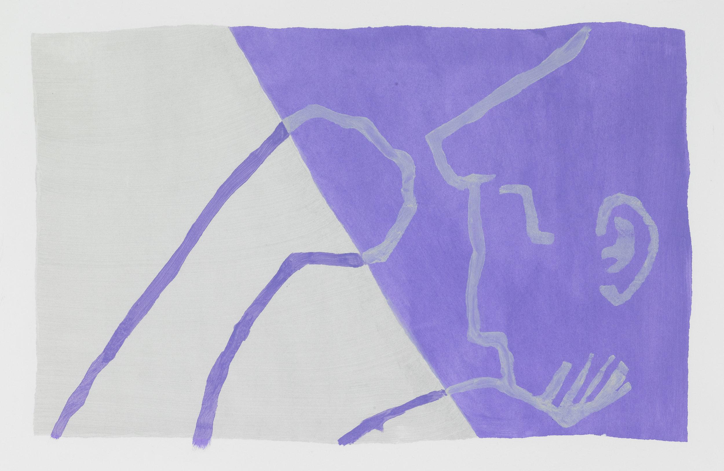 Purple , acrylic on paper, 2016