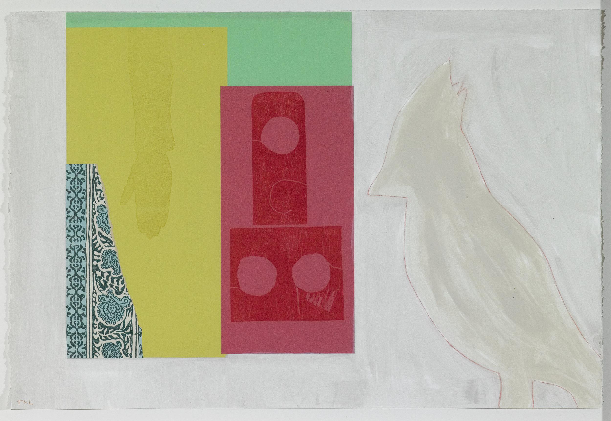 Keeper , monoprint, 2016