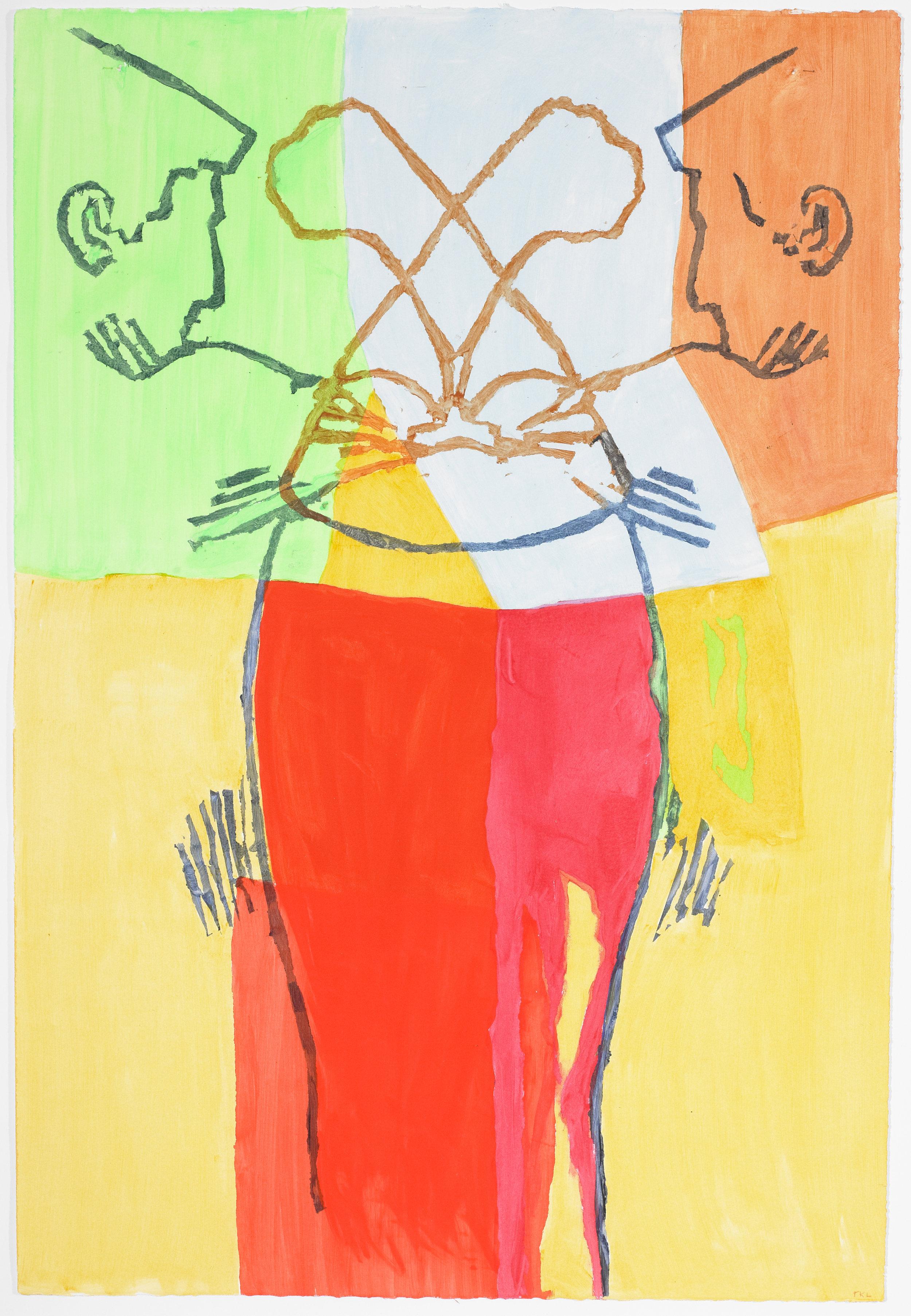 Pessoa Double 1 , acrylic on paper, 2016