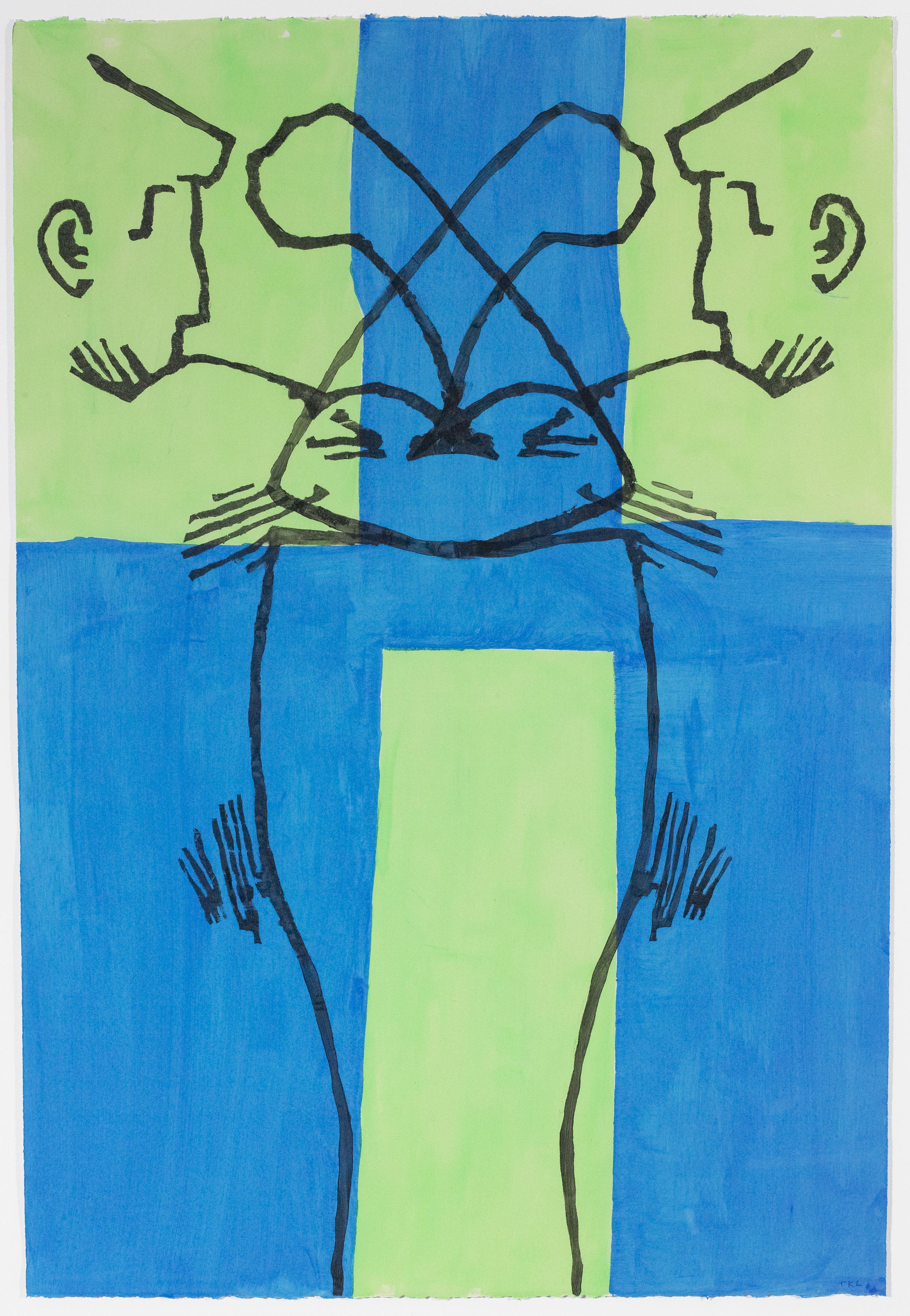 Pessoa Double 2 , acrylic on paper, 2016