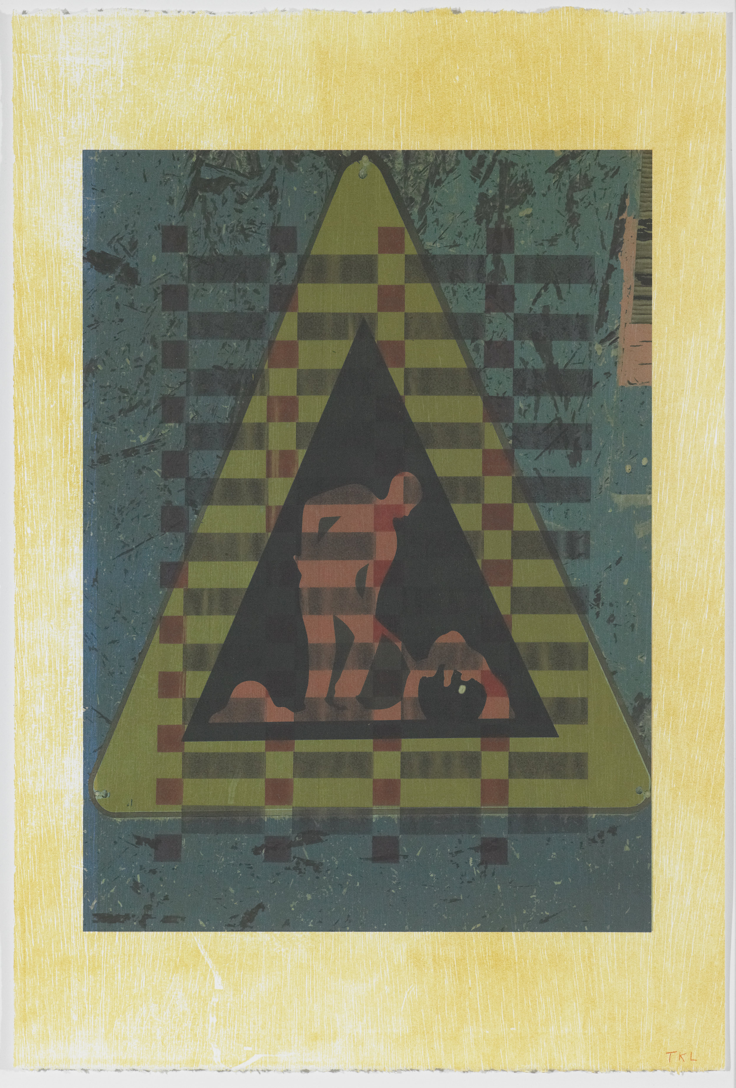 Signs of the Times 6 , mono print, 2016