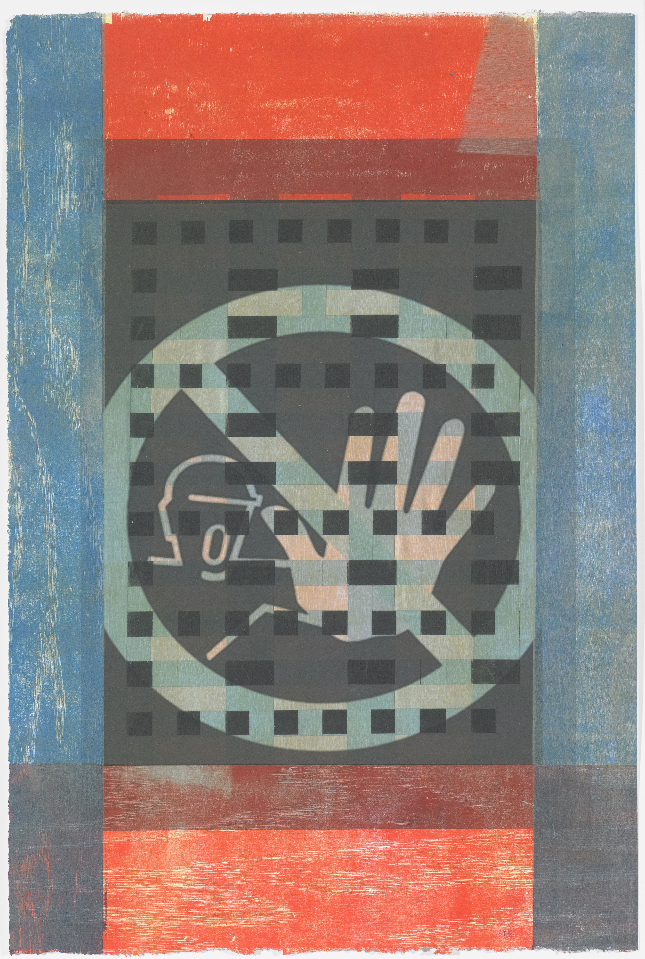 Signs of the Times 4 , mono print, 2016