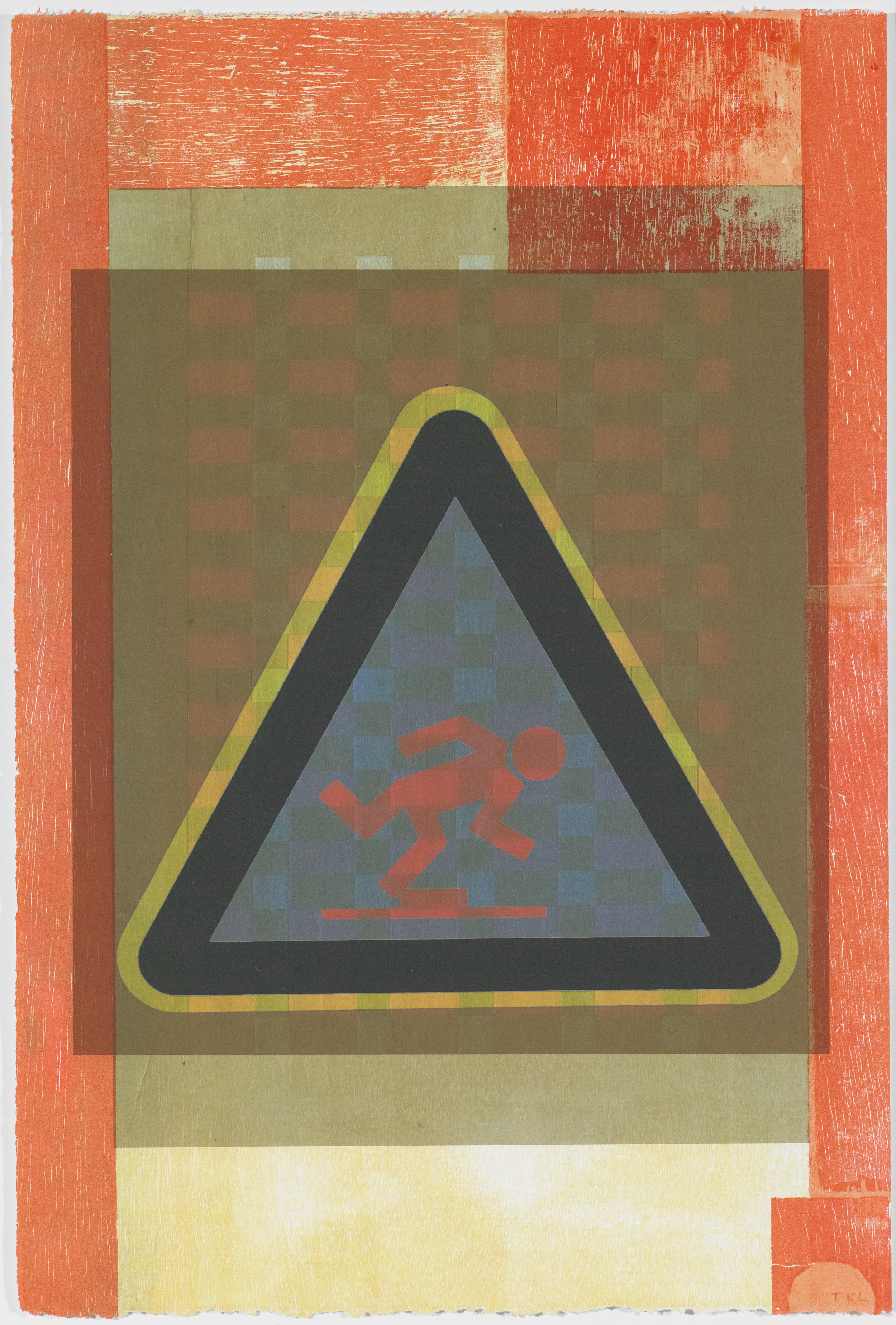 Signs of the Times 3 , mono print, 2016