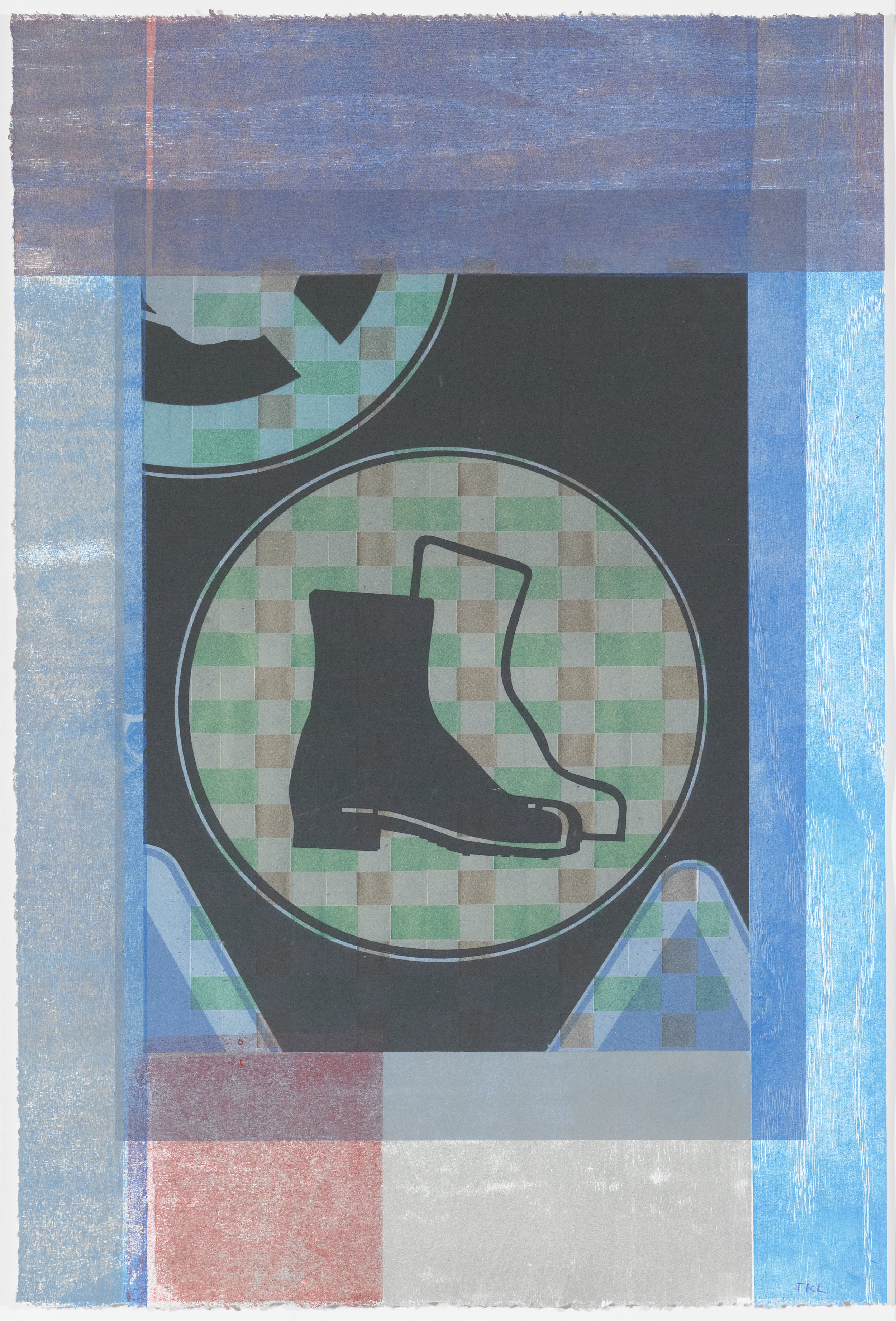 Signs of the Times 2 , mono print, 2016