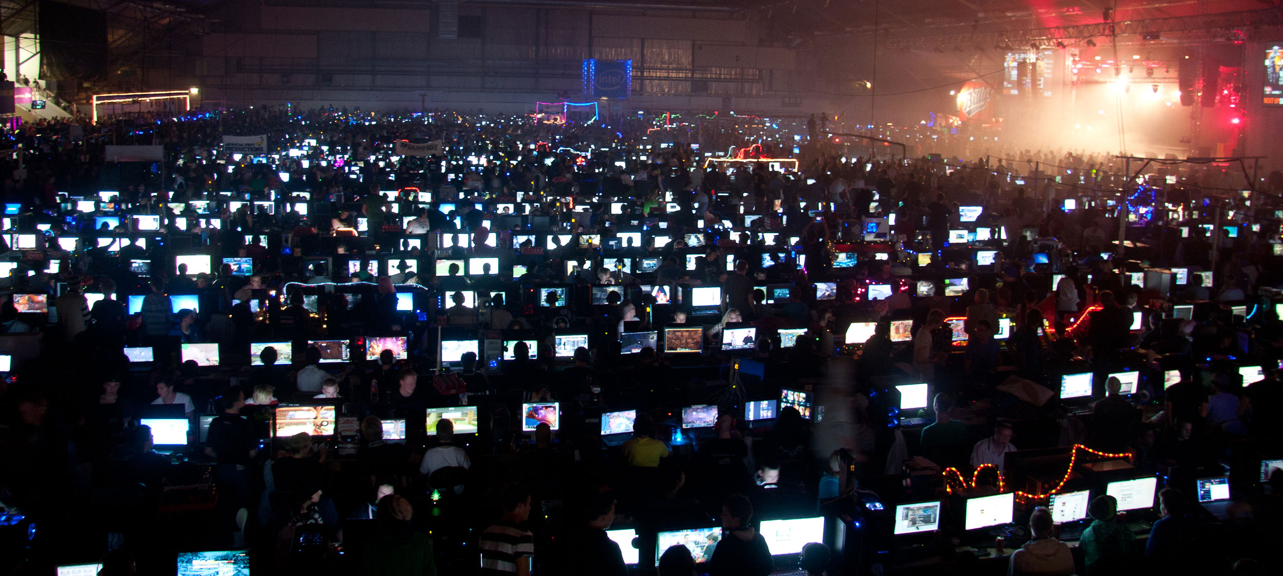 Actual picture from my last LAN party, I swear.