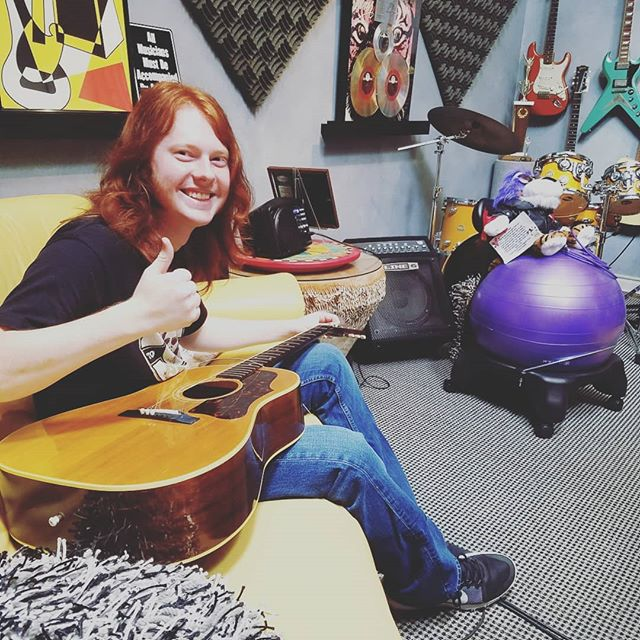 Made a house call to #jimpeterik 's for an emergency restring this morning. Of course, I had to roll with my #rideordie @michaelmacmusic.  Jimbo's J-50 is ready to record more #hitrecords now!!