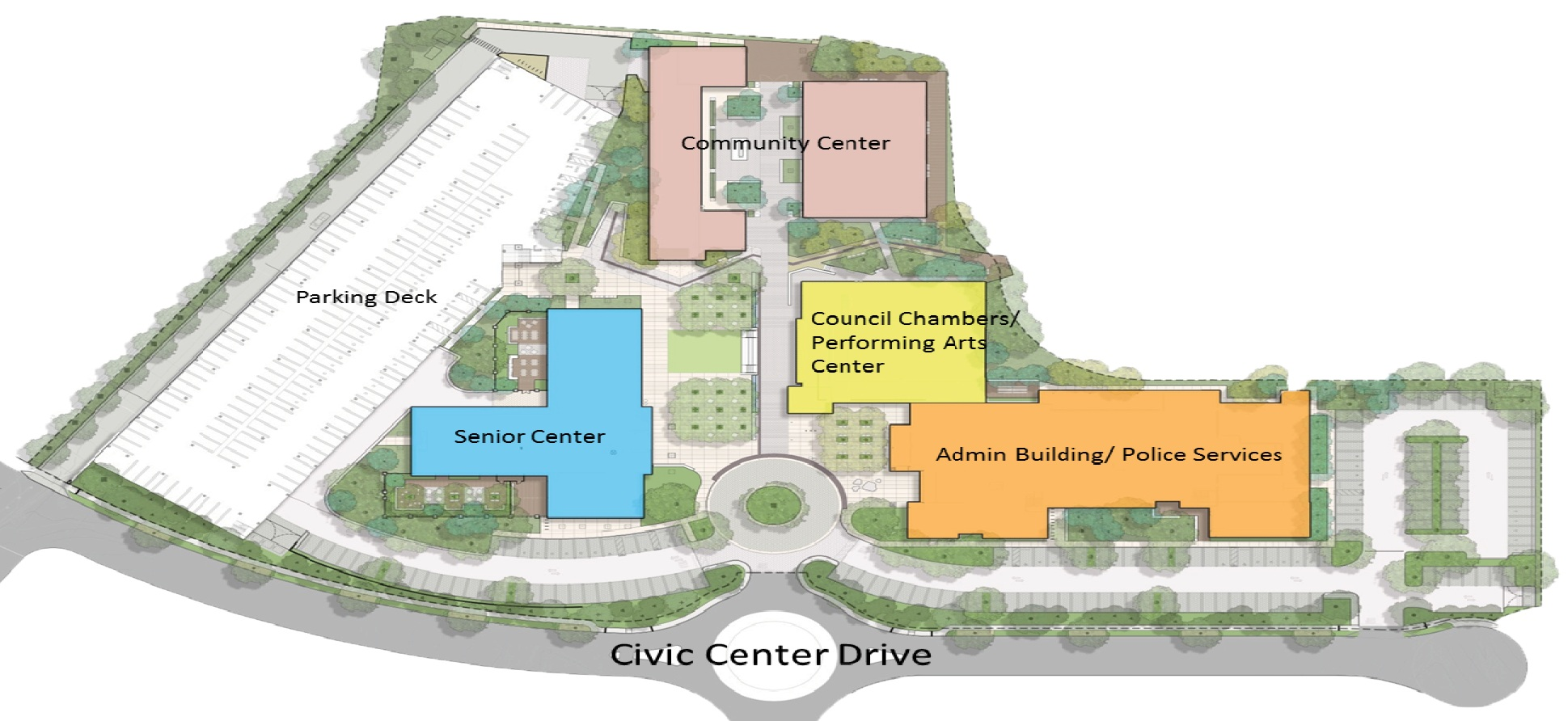 Completed Lake Forest Civic Center Site Plan