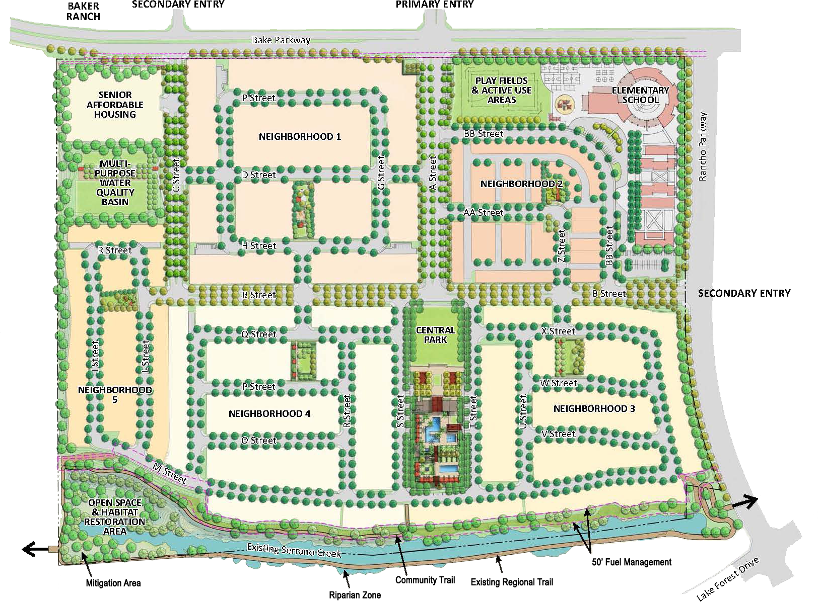 Completed Lake Forest Toll Brothers Neighborhood Map: A Peek Into The Future
