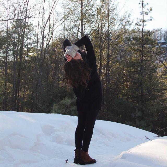 I practice back bending asanas to experience  shruddha , or deep faith in the unknown. When I move into a place I can not physically see, as long as I move consciously, all is good. Photo taken by Julianna Blizzard, Winter 2016.