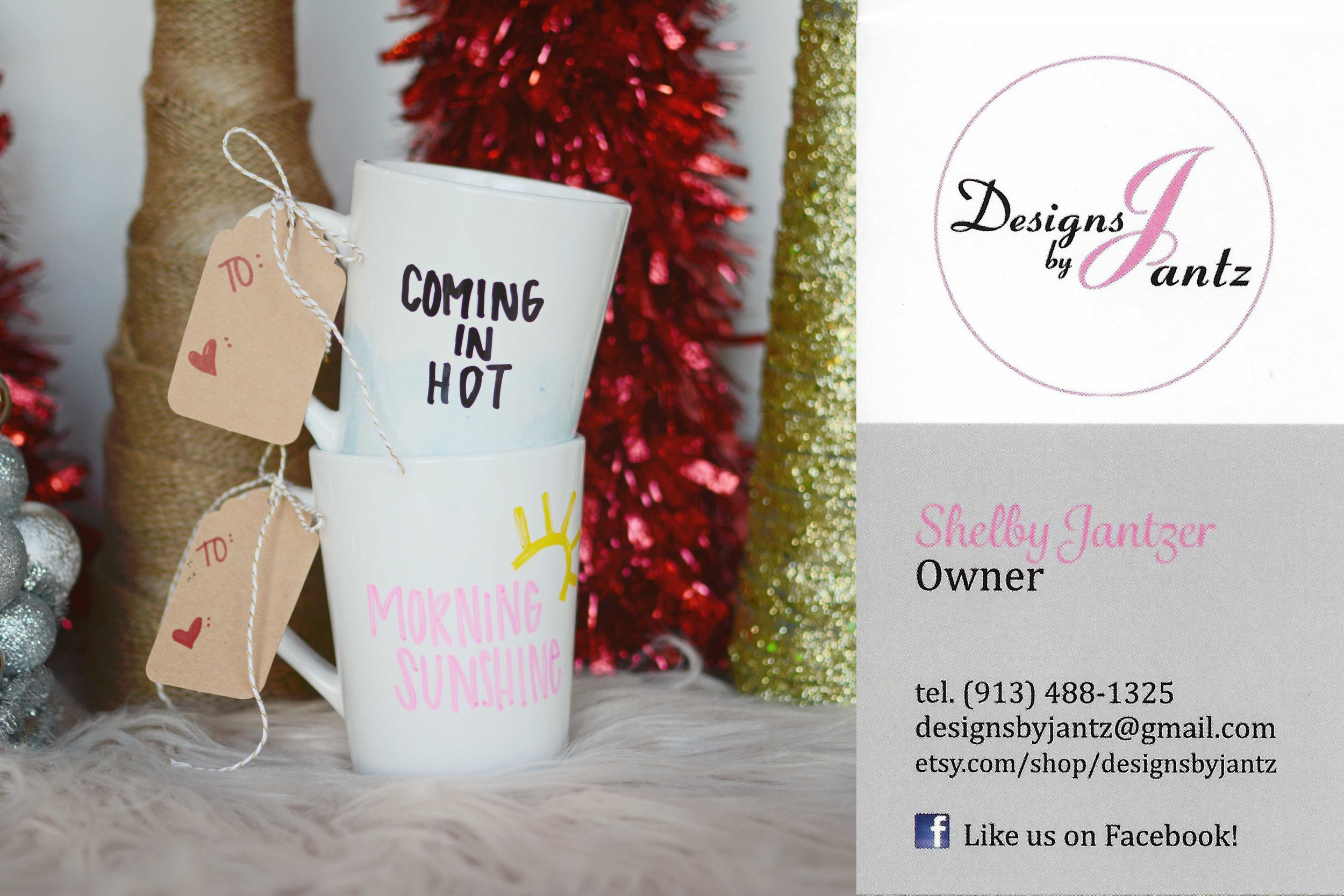 What's in the bag: (2) Darling Hand Lettered Mugs. Give one to a friend or keep them both I won't tell