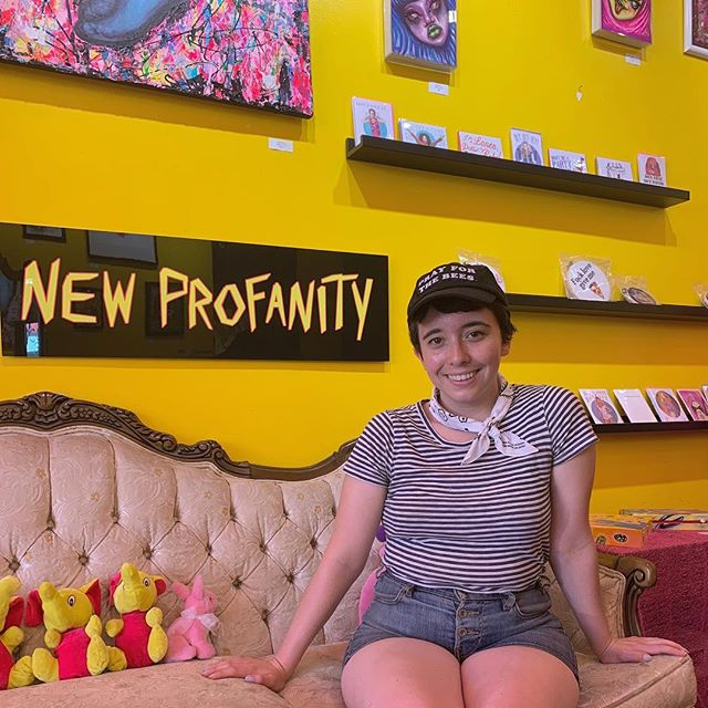 🐝New stockist alert!!🐝 LA: you can now get your hands on Agathist shirts, pins, and notebooks at @newprofanity on Melrose. They're a super rad store that stocks a ton of small artists and we're so happy to join the roster! 💥 #lasmallbusiness #savethebees #agathist #marchmeetthemaker #enamelpin #bees #reproductivejustice