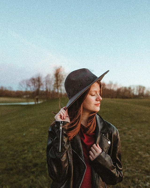 A totally unplanned portrait of Haydn that looks one hundred percent planned.  Hipster hat and all. 😂 She snagged my jacket and this hat out of the car because she was chilly and we were heading back when I convinced her to let me take one last portrait of her as a ten year old.  I can't believe she'll be eleven in just a short few weeks.  It's unfair how quick her little years flew by but I couldn't be prouder of the way she chooses to see and interact with the world around her.