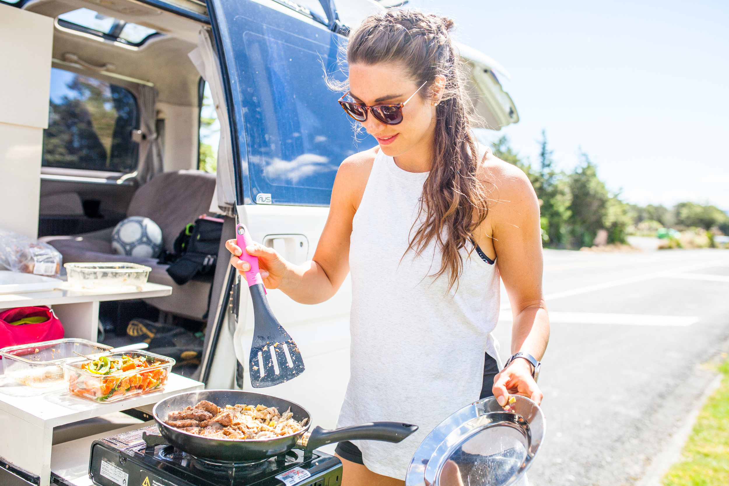 Protein and Veggies - even while camping!