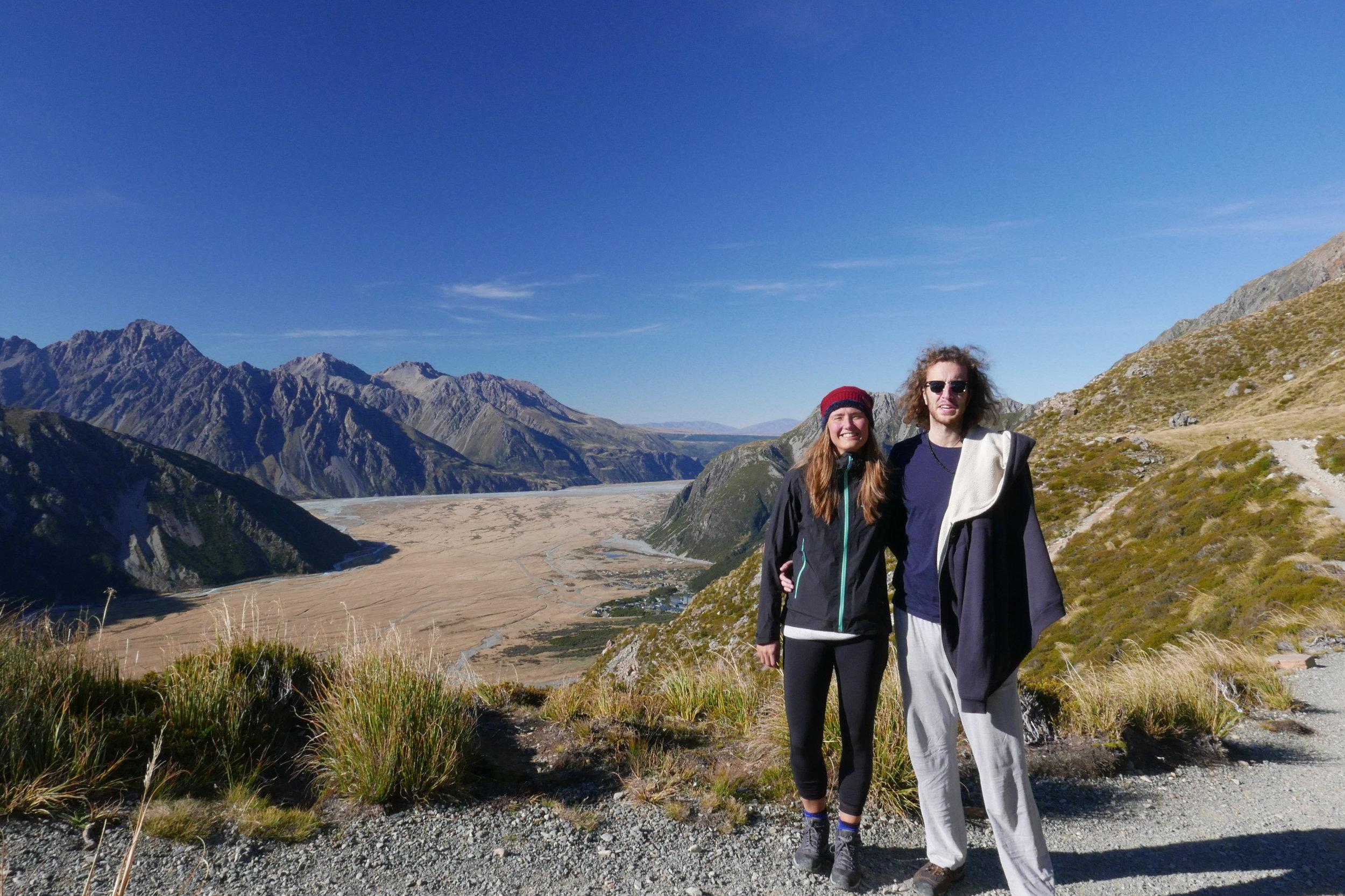 Above Mount Cook village
