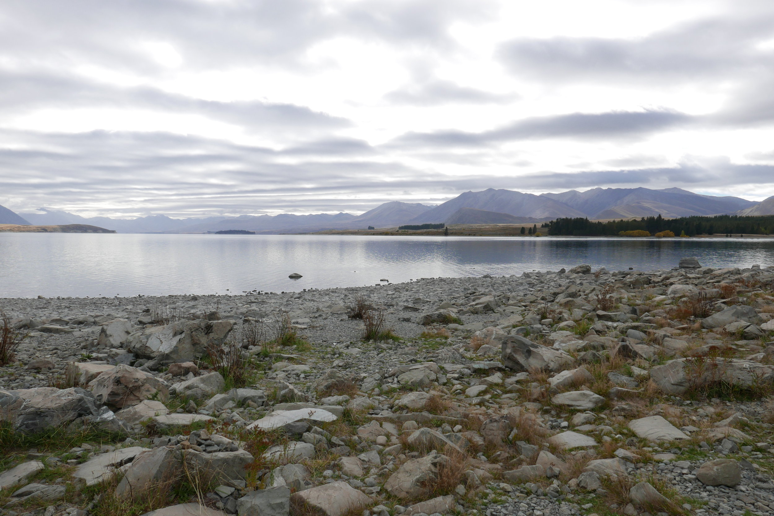Lake Tekapo , as you can see we are here alone without fifty other people...