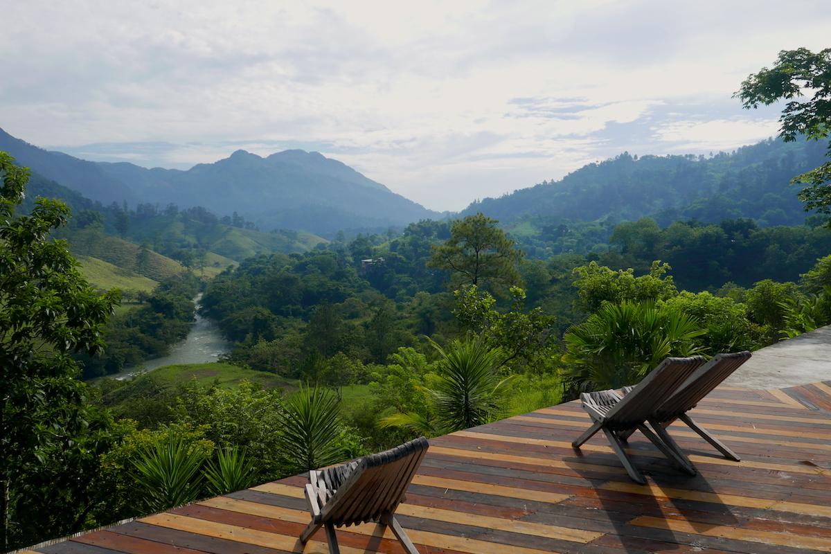 Hostel views at Lanquin