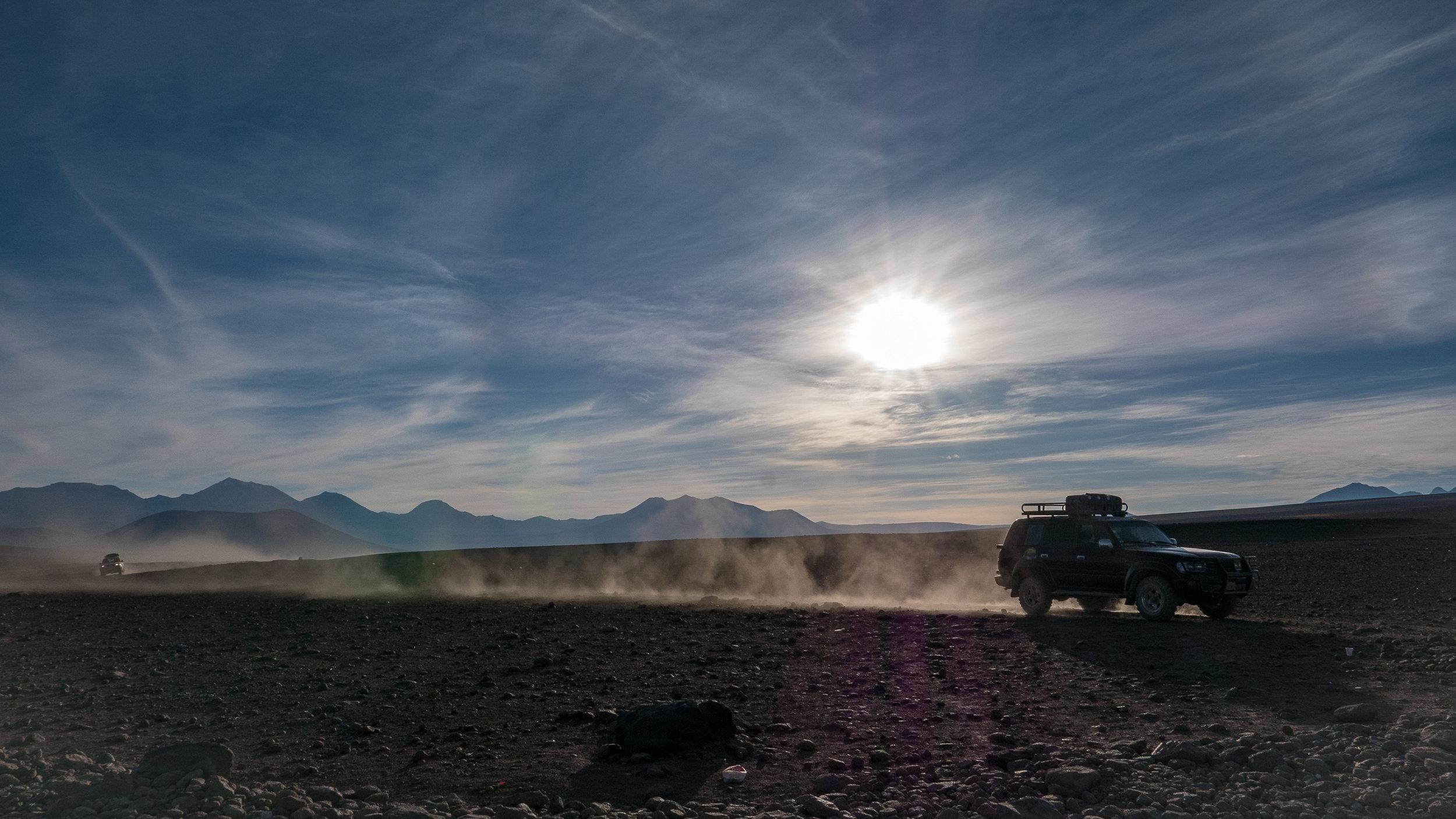 4WD's at 4,600 meters