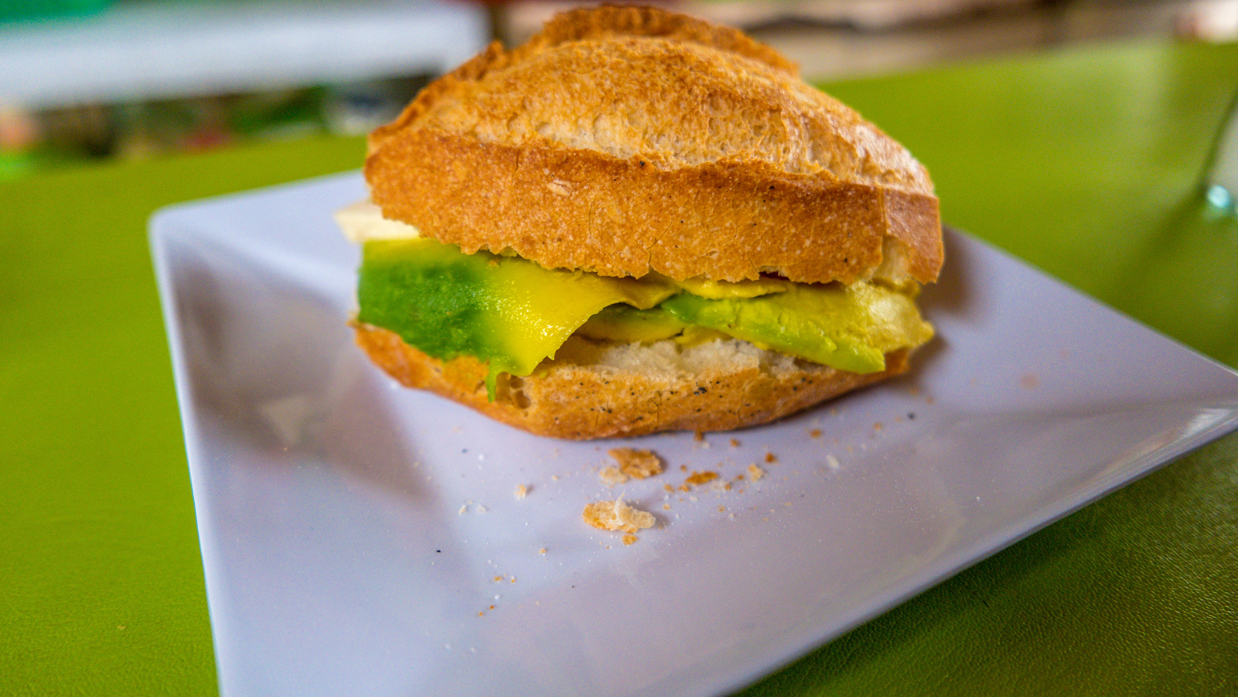 $0.36 avocado sandwiches for brekkie, lunch and dinner