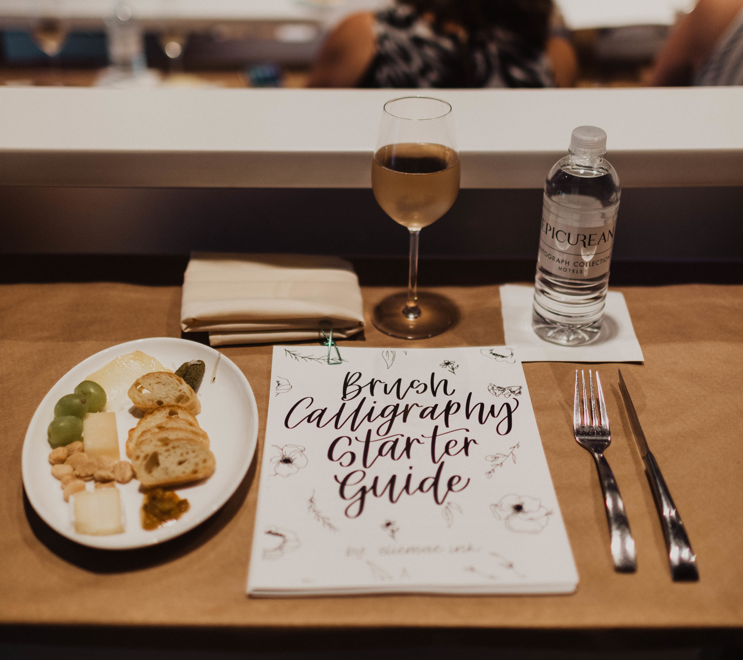 Brush Calligraphy Class held at the Epicurean Hotel Theater