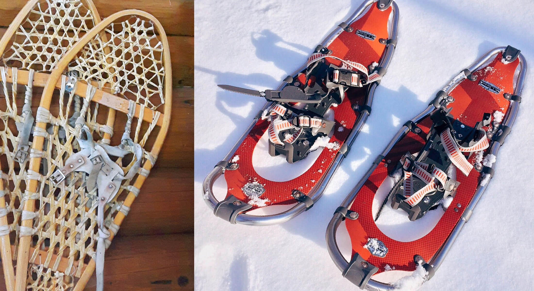 examples of the best snowshoes old and new